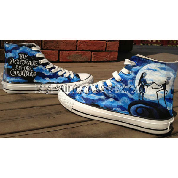 83a970c9f87e The Nightmare Before Christmas High-top Painted Canvas Shoes