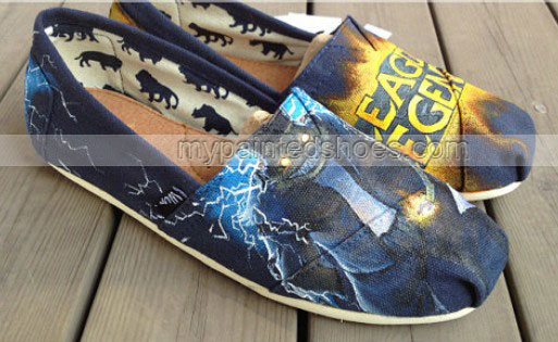 League of Legends Shoes Wen Shoes Hand Painted Shoes Slip-on Pai-2