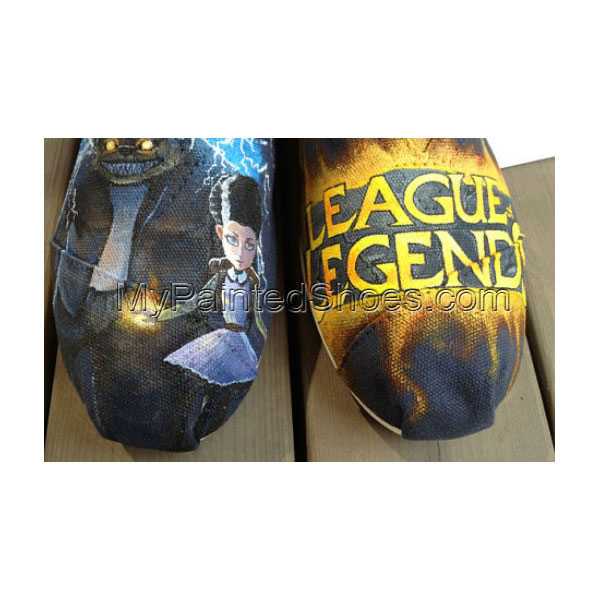 League of Legends Shoes Wen Shoes Hand Painted Shoes Slip-on Pai