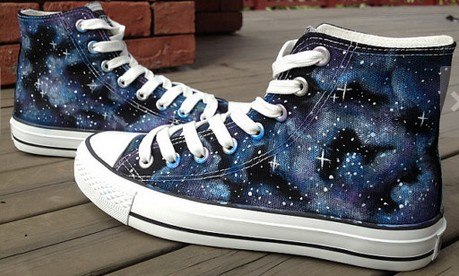 Galaxy Shoes Galaxy Hand Painted Shoes Custom High-top Painted C-1