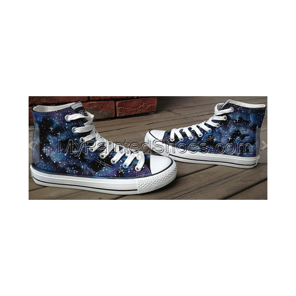 Galaxy Shoes Galaxy Hand Painted Shoes Custom High-top Painted C