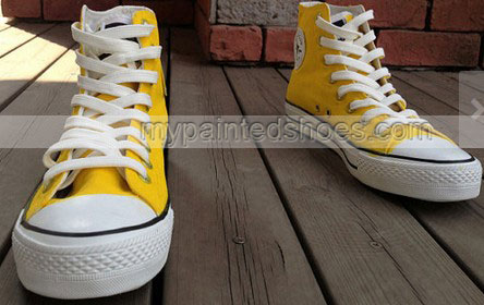 Large Yellow Duck Shoe Hand Painted Shoes Sneakers Kids-2