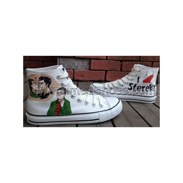 Teen Wolf Fans Shoe Hand Painted High Top Canvas Shoes