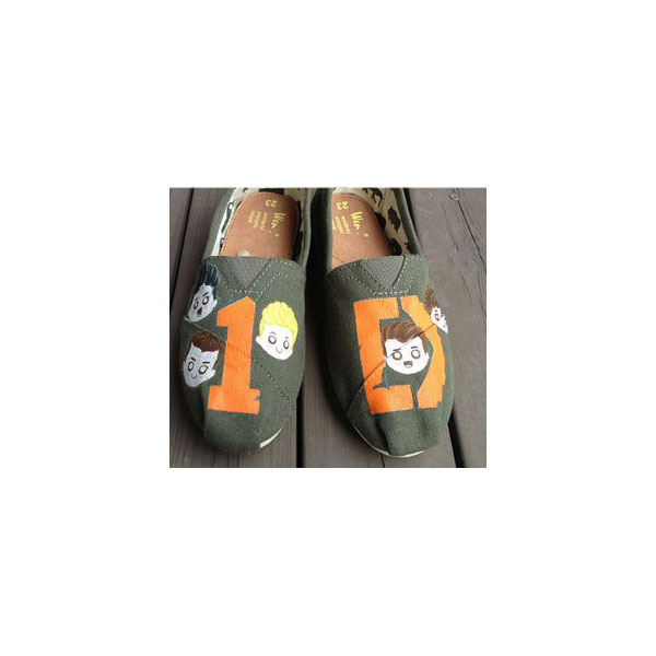 One Direction Shoes Christmas Gifts Slip-on Painted Canvas Shoes