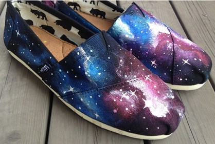 Christmas Galaxy Shoes Galaxy Nebula Custom Canvas Shoes Hand Pa-1
