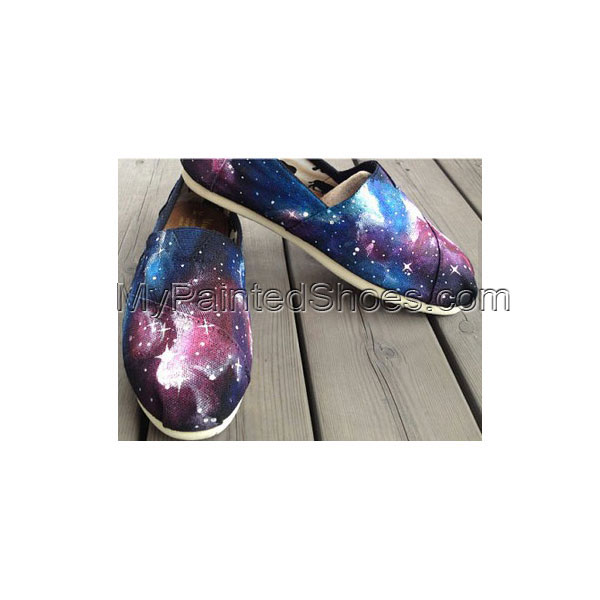 Christmas Galaxy Shoes Galaxy Nebula Custom Canvas Shoes Hand Pa