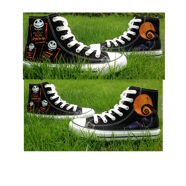 Nightmare Christmas Shoes Hand Painted Shoes High-top Painted Ca