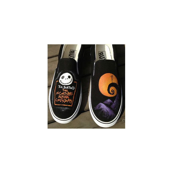 Christmas Gifts Nightmare Christmas Shoes Slip-on Painted Canvas