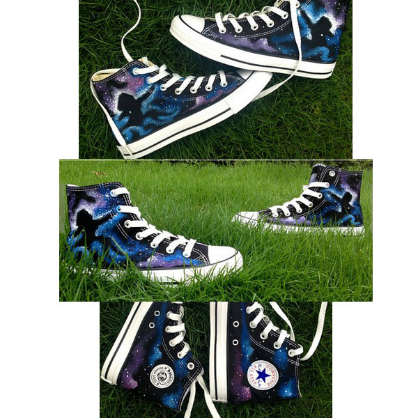 Galaxy Canvas Shoes Galaxy High-top Painted Canvas Shoes