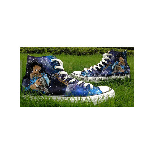 Galaxy shoes Betty Boop Shoe High-top Painted Canvas Shoes