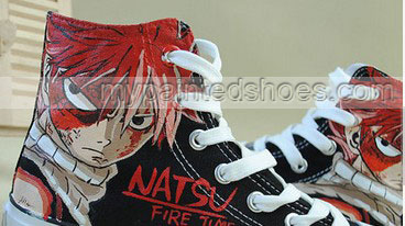 Anime Shoes Fairy Tail Natsu Shoes Hand Painted Shoes-2
