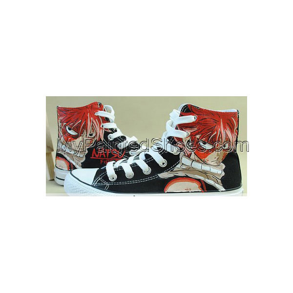 Anime Shoes Fairy Tail Natsu Shoes Hand Painted Shoes
