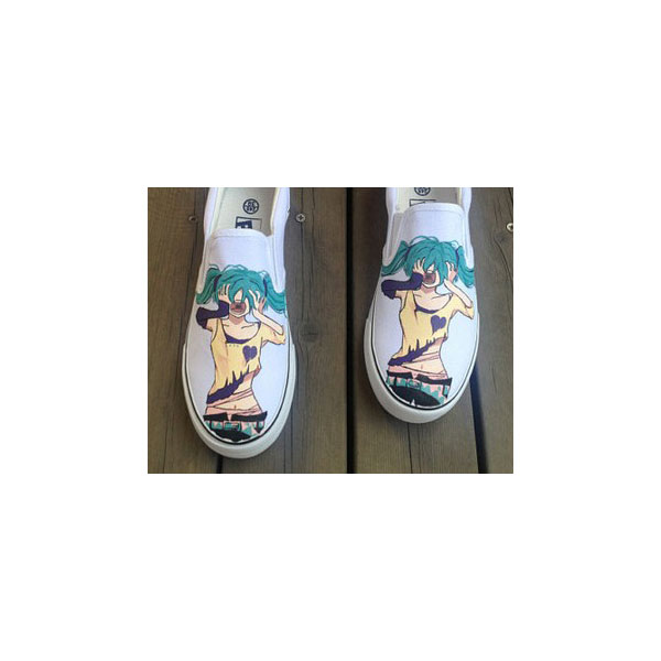 Vocaloid Shoes Anime Shoes Slip-on Painted Canvas Shoes