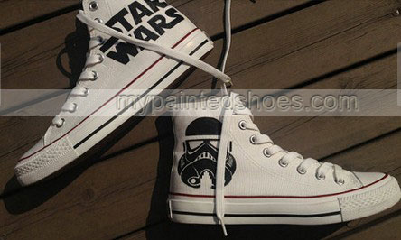 2013 Star Wars Shoes High-top Painted Canvas Shoes-2