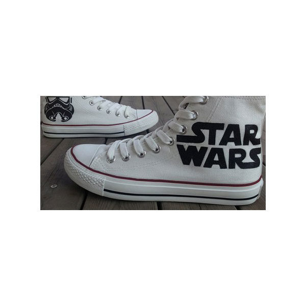 2013 Star Wars Shoes High-top Painted Canvas Shoes