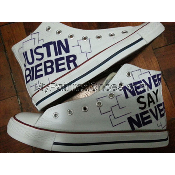 2013 Justin Bieber Shoes High-top Painted Canvas Shoes
