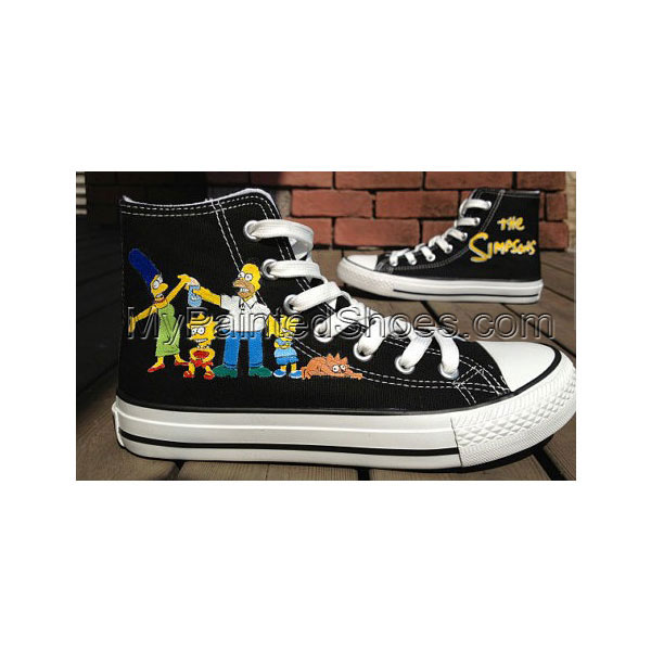 The Simpsons Hand Painted Shoes High-top Painted Canvas Shoes