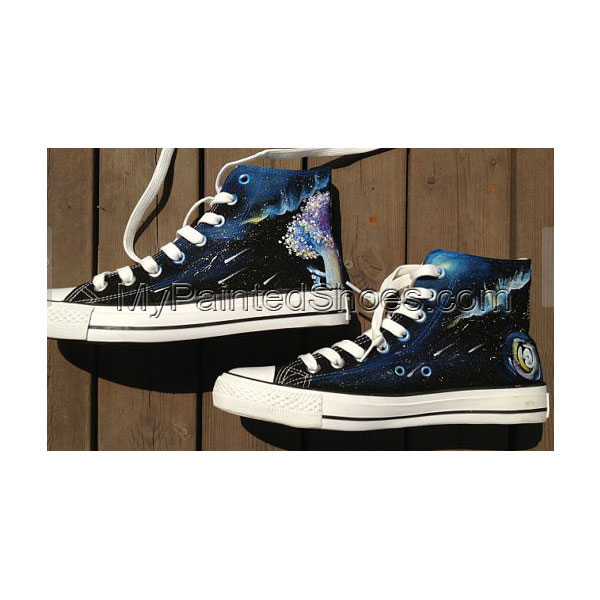 Galaxy shoes High Top Hand Painted Shoes