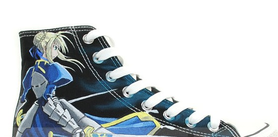 Saber Fate/stay Night Anime Sneakers Hand Painted Canvas Shoes f-1