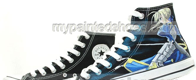 Saber Fate/stay Night Anime Sneakers Hand Painted Canvas Shoes f-3