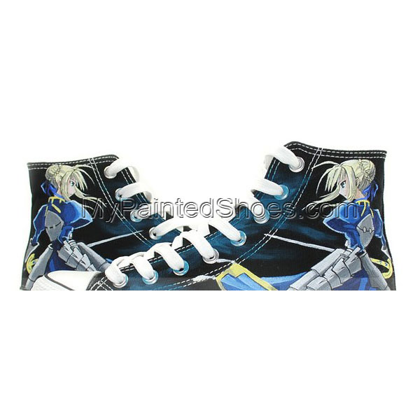 Saber Fate/stay Night Anime Sneakers Hand Painted Canvas Shoes f