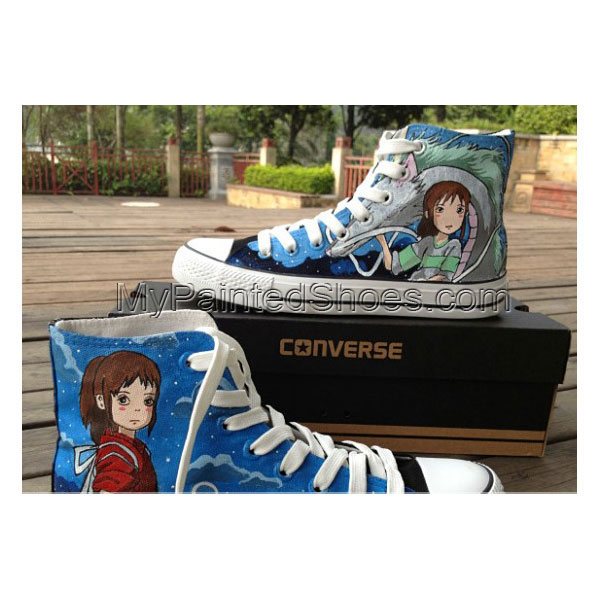 Spirited Away Anime Shoes Hand Painted Canvas Sneakers High Top