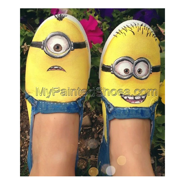 minion shoes Slip-on Painted Canvas Shoes for Men/women/kid