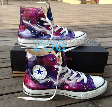 galaxy High top shoes custom galaxy shoes-2