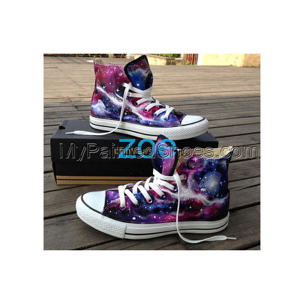 galaxy High top shoes custom galaxy shoes