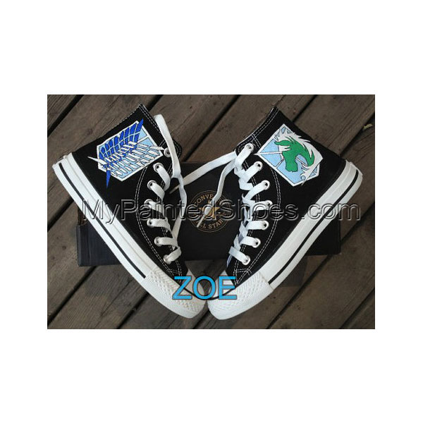 Attack on Titan Shoes hand painted shoes Custom Attack on Titan