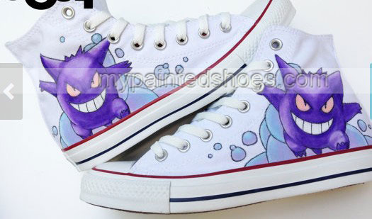 Gengar Pokemon Shoes Pokemon High-top Painted Canvas Shoes