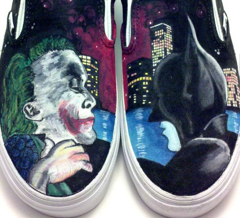 The Dark Knight Painted Shoes custom The Dark Knight hand painte-1