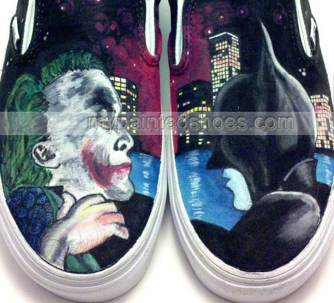 The Dark Knight Painted Shoes custom The Dark Knight hand painte