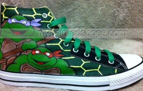 Teenage Mutant Ninja Turtles custom High-top Painted Canvas Shoe-2