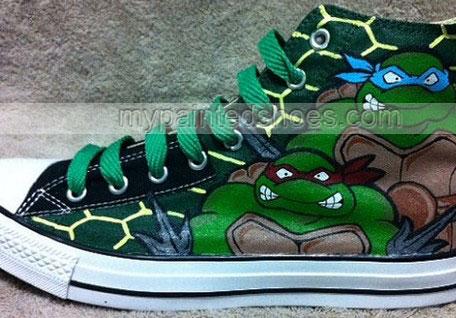 Teenage Mutant Ninja Turtles custom High-top Painted Canvas Shoe-3