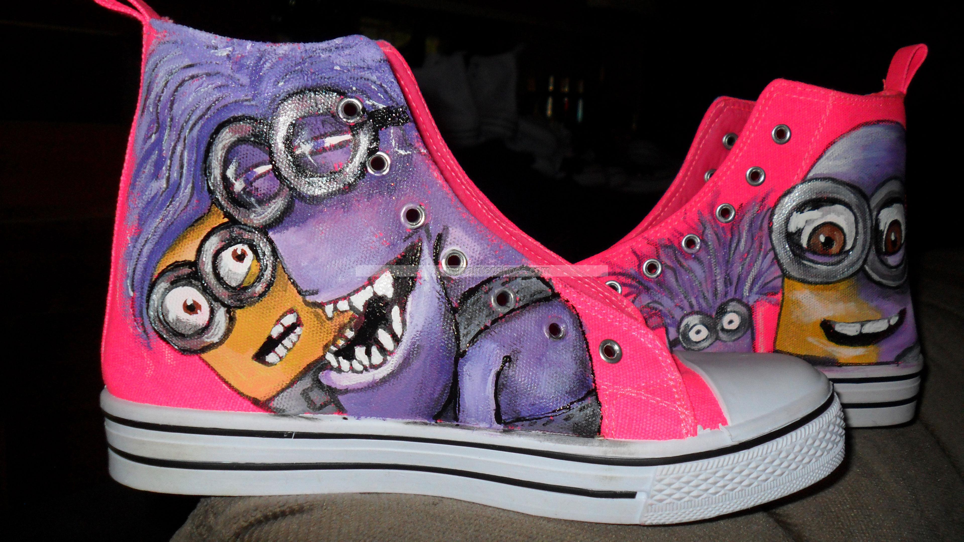 Minion shoes hand painted shoes-2