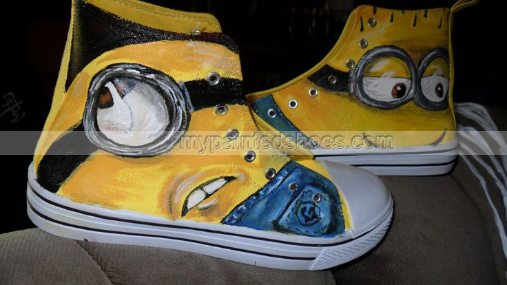 Minion shoes hand painted shoes-3