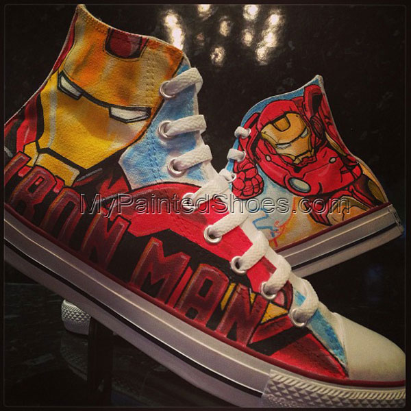 Iron Man Custom High-top Painted Canvas Shoes