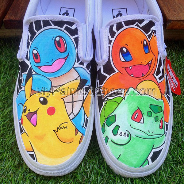 Pokemon Slip-on Painted Canvas Shoes
