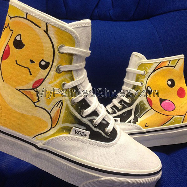 Pikachu Custom High-top Painted Canvas Shoes