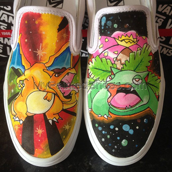 Pokemon Slip-on Painted Canvas Shoes custom Slip-on Painted Canv