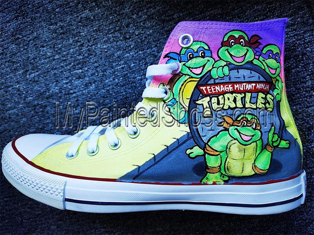 Ninja Turtles Shoes anime Ninja Turtles Hand Painted Shoes-2