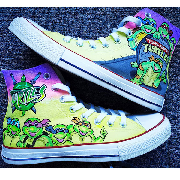 Ninja Turtles Shoes anime Ninja Turtles Hand Painted Shoes