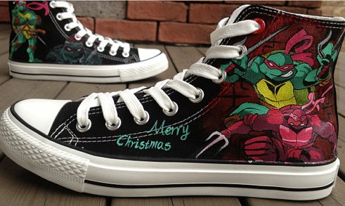 Ninja Turtles Hand Painted Shoes Ninja Turtles Shoes-1