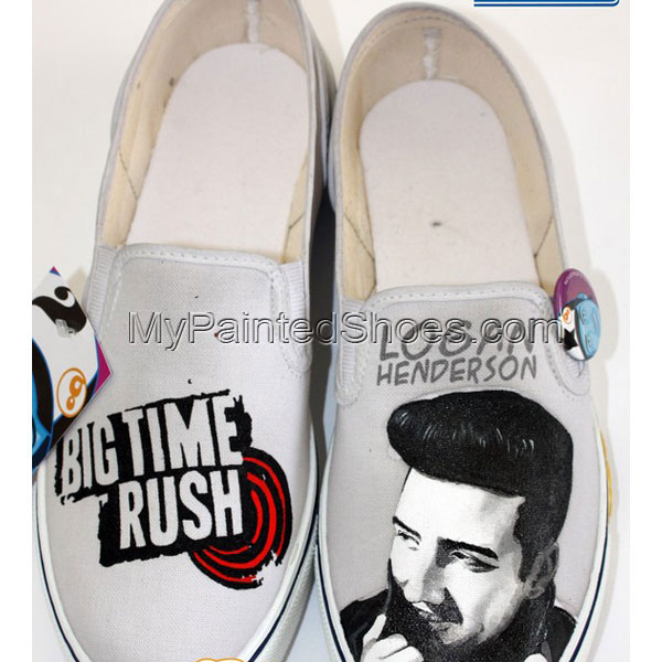 Logan Henderson Shoes Logan Henderson Hand Painted Canvas Shoes