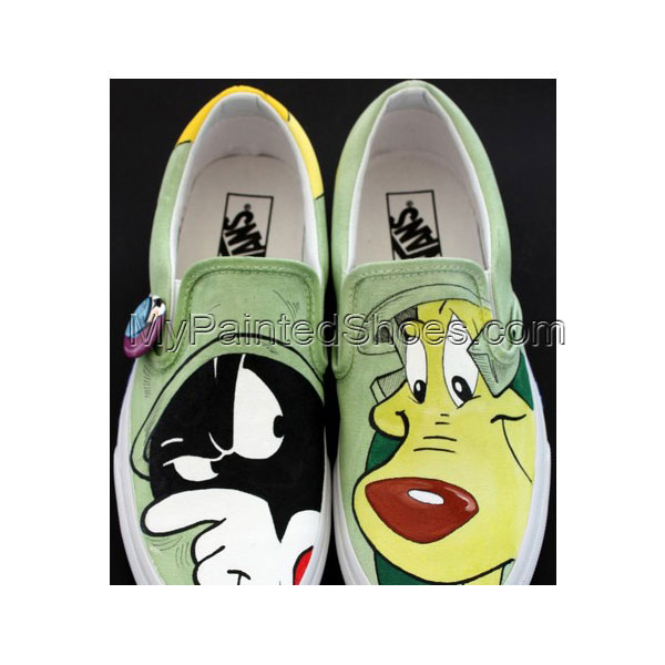 Marvin Shoes Marvin Hand Painted Canvas Shoes Marvin Slip-on Pai