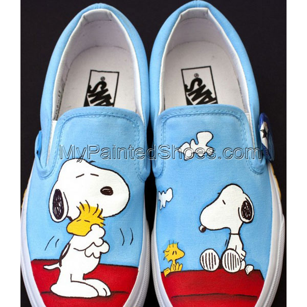 4bb04f125a6ad3 snoopy shoes snoopy Hand Painted Canvas Shoes