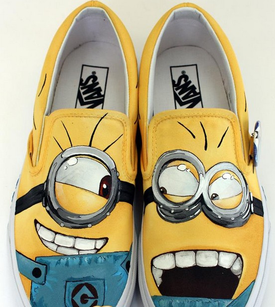 Minions Shoes Minions Slip-on Painted Canvas Shoes-1