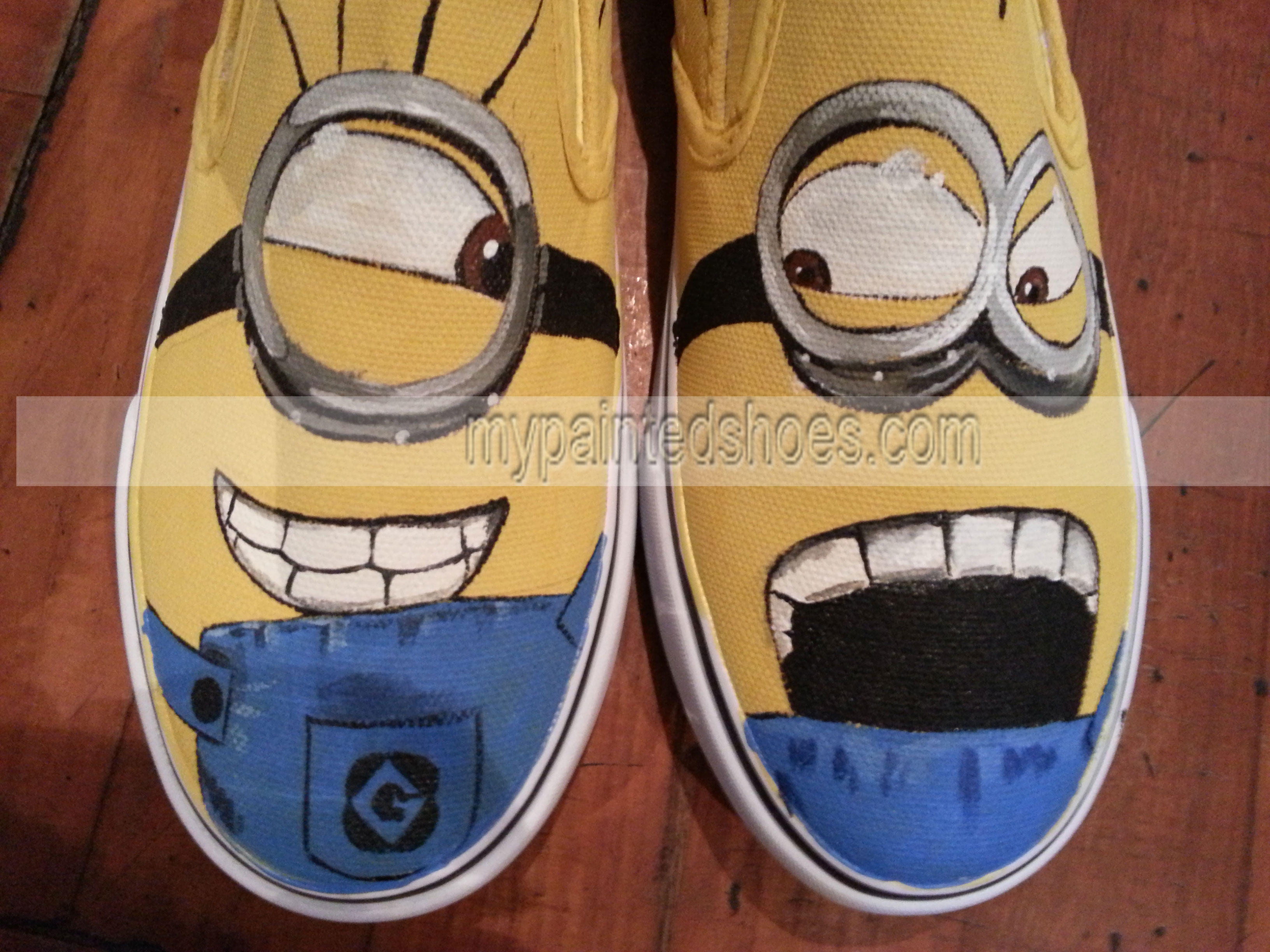 Minions Shoes Minions Slip-on Painted Canvas Shoes-2
