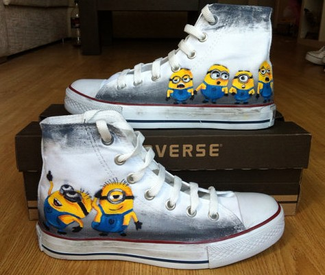 Minion Custom Shoes Minion Hand Painted Canvas Shoes-1